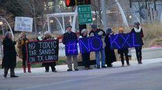 North Texas activists stage local NoKXL protests Activists, Stage, Texas, Scene