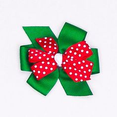 Holidays Bow Hair Clips by Kidz Outffiters | www.KidzOutfitters.com