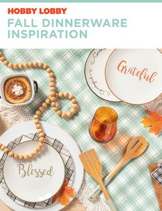 Find one more reason to be thankful this fall with elegant dinnerware that will transform your table. Hobby Lobby Fall Decor, Dinnerware Inspiration, Bench Decor, Indian Home Decor, Fall Table, Beach House Decor, Traditional House, Cheap Home Decor, Decor Crafts