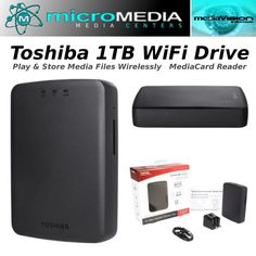 Toshiba 1TB WiFi HD-Canvio AeroCast #Toshiba