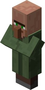 Villager, an NPC that spawns in villages, and also trades items for, normally emeralds. Minecraft Mobs, Minecraft Stuff, Biomes, Spawn, Free Time, Emeralds, Struck By Lightning, New Crafts, Infographic