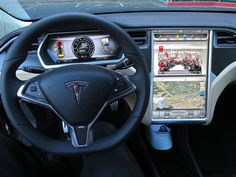 Looking nice on the inside of a Tesla S