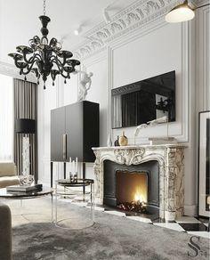 Luxury Homes Interior, Interior Exterior, Home Interior Design, Interior Decorating, Classic Living Room, Classic House, Classic Interior, Modern Interior, Ambiance Hotel