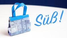 Bargeld Geschenkidee, Handtasche falten zum Geburtstags-Shopping
