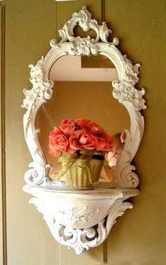 Shabby chic mirror. #LillysKloset #DreamCloset