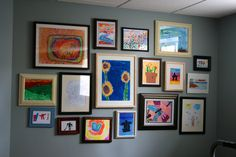 Echoes of Laughter: Kids' Art Gallery Wall...