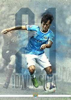 Silva Manchester City Poster Series by Eduardo Diazmuñoz, via Behance Soccer Art, Football Art, Sport Football, Football Fever, Vintage Football, Manchester City, Jordyn Jones, Neymar, Logo Spa