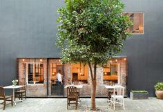 The Commune Social: Neri&Hu - Restaurant & Bar Design Design Exterior, Facade Design, Interior And Exterior, Gray Exterior, Café Bar, Tapas Restaurant, Restaurant Design, Tapas Bar, Society Restaurant