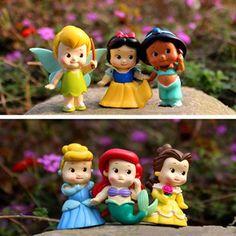 Дешевое 6 шт. / комплект 5 см снег белый / тиана / русалочка ариэль куклы принцессы аниме цифры игрушки для девочек подарок пуппе boneca poupee bambola, Купить Качество Куклы непосредственно из китайских фирмах-поставщиках:           Материал: ПВХ                 Размер: 5 -- 6 см                 Много: 6 шт.                 Если вы люб