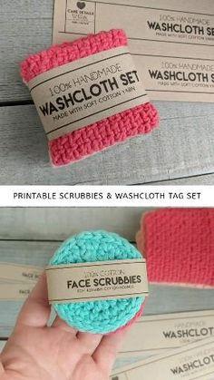 Knitted Washcloth Patterns, Crochet Scrubbies, Knitted Washcloths, Knitting Patterns, Crochet Patterns, Bead Patterns, Crochet Faces, Knit Or Crochet, Crochet Crafts