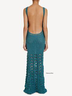 Crochetemoda: Vestido de Crochet Lilly Sarti