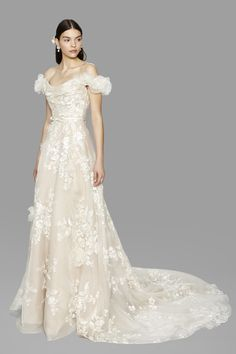 Off The Shoulder Wedding Dress - Marchesa