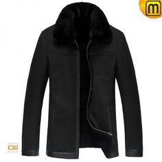 Mens Fur Lined Leather Jacket CW833359