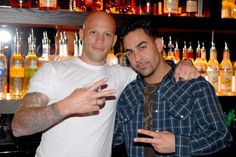 Ami James and Chris Nunez, of Miami Ink fame, at the grand opening party for their Love/Hate Lounge.<br><br>Date Shot: March Alex Mateo de Acosta/For The Miami Herald<br>Copyright: The Miami Herald Chris Núñez, Ami James, Lose My Breath, Miami Ink, Dark Beauty Magazine, Mr Perfect, Ink Master, Grand Opening, Hot Boys