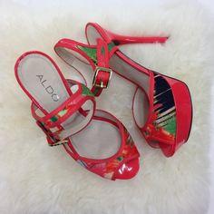 """Spotted while shopping on Poshmark: """"Coral stilettos""""! #poshmark #fashion #shopping #style #ALDO #Shoes"""