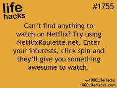 Netflix Hack Whaaa???? I will definitely have to try this.