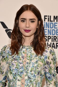 Actor Lily Collins attends the Film Independent 2018 Spirit Awards press conference at The Jeremy Hotel on November 21, 2017 in West Hollywood, California.