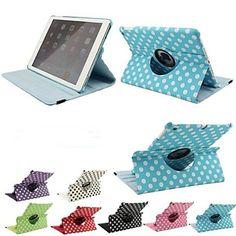 iPad Air White Polka Dot Leather Cases cover for Apple iPad Air/5/5th - iPad Air Case