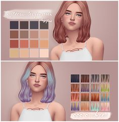 Catplnt Nightcrawler's 14 clayified & ombre'd • in @pastry-box's saccharine palette & all saccharine colors in my own ombre combos!! • seperate files • custom thumbnails