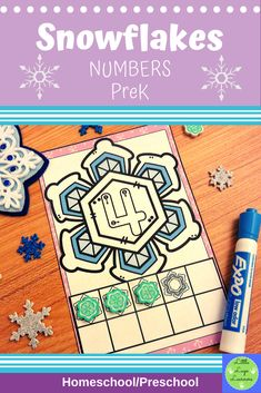 These Snowflake Number Lessons are the perfect addition for Math Centers for homeschool/ preschool. This time saving, leveled resource is engaging with its vibrant pictures and stimulating content! Your multi-aged 4-6 year old children will enjoy learning about the Snowflake and numbers with these interactive lessons. Numbers Preschool, Preschool Math, Kindergarten, Preschool Winter, Morning Activities, Number Activities, Elementary Math, Literacy Centers, Snowflakes