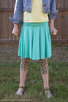 Yoga Waistband CIRCLE SKIRT - I wonder if I could figure this out for my size, the instructions sound doable. Sewing Clothes, Diy Clothes, Kid Clothing, Tall Clothing, Gypsy Clothing, Clothes Refashion, Children Clothes, Clothing Ideas, Wrap Skirt Tutorial