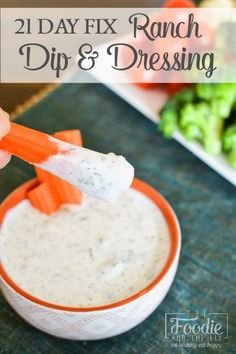 This delicious 21 Day Fix ranch dip (or dressing) uses my favorite not-so-secret-anymore ingredient: cottage cheese! A great, protein packed ranch! day fix 21 Day Fix Snacks, 21 Day Fix Diet, Healthy Superbowl Snacks, 21 Day Fix Foods, Ranch Dip, 21 Day Fix Breakfast, Low Carb Breakfast, 21 Day Fix Dressings, Recipes
