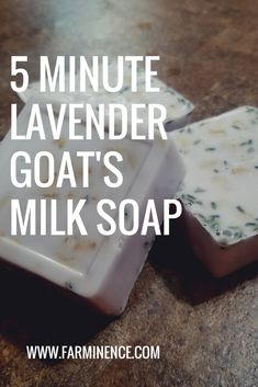 A super easy recipe for a five minute lavender goat's milk soap. Perfect for soap making newbies!