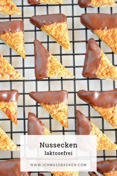 Nussecken - Ich muss backen - The Best Authentic Mexican Recipes Mexican Dinner Recipes, Egg Recipes, Mexican Food Recipes, Cooking Dishes, Cooking Recipes, Easy Biscotti Recipe, Tartiflette Recipe, Vegetable Drinks, Latin Food