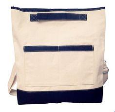 Navy laptop bag --view1