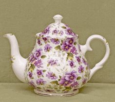 Pansy Chintz Fine Bone China - 6 Cup Teapot $90.91