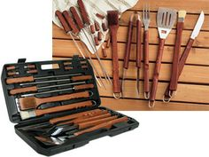 Barbecue Set in Carrying Case (18-pc.): Black by SCI/Scandicrafts, Inc at Food Network Store