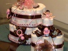 Big and Small, Pink and Brown Pamper cake