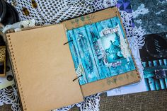 Design by Kristina Peshko: Неовинтажный микс медиа блокнот с прозрачным разделителем
