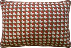 Crosstown Coral Decorative Pillow