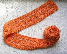Skinny Scarf   Crochet Scarf  Orange by CottageImaginations