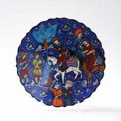 Minyatür Çini Tabak - Kütahya Çini ve El Sanatları