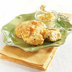 Make these delightfully cheesy Cheddar Chive Biscuits for your holiday menu.