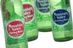 Drink lots of water! My favorite is Mountain Valley Spring - premium spring water and sparkling water Healthy Food, Yummy Food, Healthy Recipes, Old Logo, Spring Water, Water Quality, Loving Your Body, Label Design, Arkansas