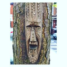 Wood face #nutureandgrow #woodface #carving #walthamstow #e17