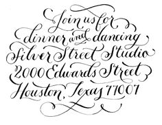 Calligraphy & Hand Lettering by Jill De Haan, via Behance
