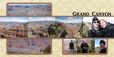 Digital Scrapbook page Grand Canyon Two pages eight photos vacation