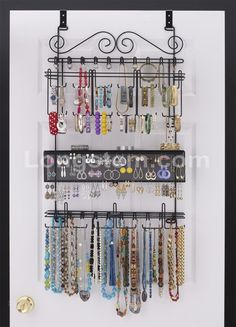 OverdoorWall Jewelry Organizer in White By Longstem Longstem