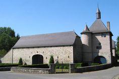 Castle-farm Marchand, in Mozet, Province of Namur, Belgium. Ferme-Château Marchand, Belgique. Photo: Jean-Pol Grandmont #farmhouse