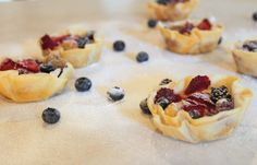 Mini Berry Tartes - Perfect and easy summer dessert  Mmmwhatsfordinner.blogspot.com