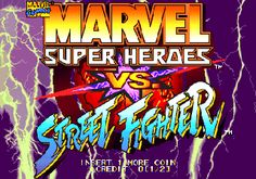 Marvel Super Heroes Vs. Street Fighter - Title screen image