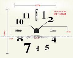 novo design moderno de alta qualidade em silêncio 3d parede DIY relógio 12s012…
