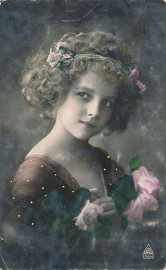 Grete Reinwald. Edwardian girl from Germany.