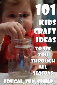 Kids Crafts 101. Over 101 ideas to keep you and your kids busy. Exploring seasons, a variety of topics. The majority inexpensive, easy and fun!