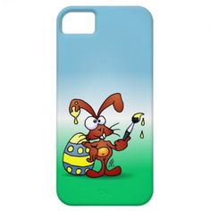 Easter Bunny Case-Mate iPhone 5 Barely There Universal Case. #Zazzle #Cardvibes #Tekenaartje #Easter #iPhone
