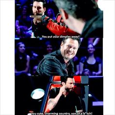 Hahahaha that's why I love Blake and Adam!!! And for guys in their 30s they are kind of adorable!!